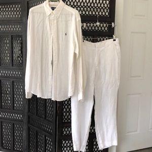 BEAUTIFUL, Men's Ralph Lauren Linen Oxford/Pants